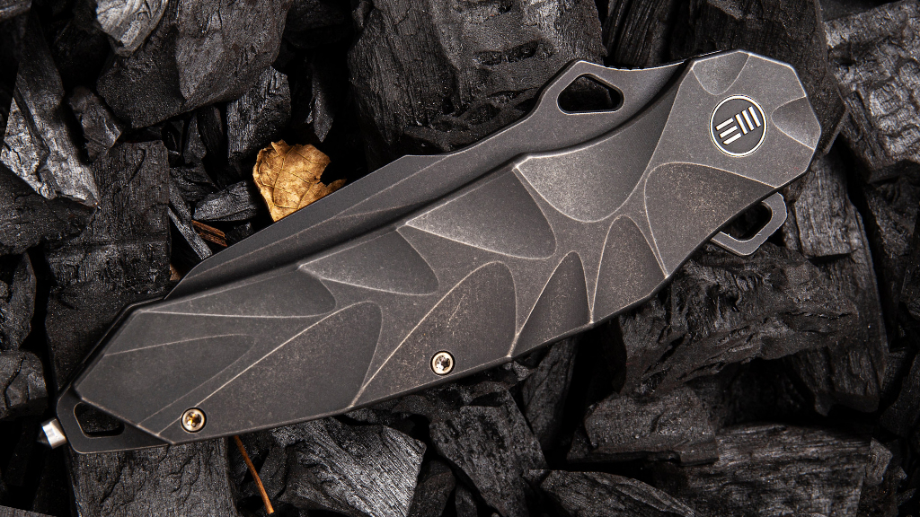 Hecate sculpted titanium handle
